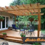 Bahçe ve teraslara dekoratif pergolalar