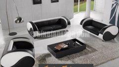 Siyah beyaz ve modern koltuk takımları