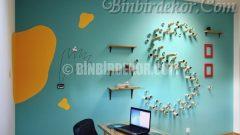 Cıvıl cıvıl bir ofis dekorasyonu