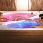 Çift kişilik romantik banyo küveti