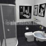 Siyah Beyaz banyo dekorasyonları
