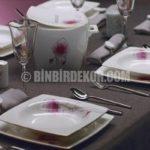 Kare porselen yemek takımları 2014 (Korkmaz)