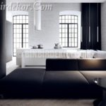 Siyah beyaz ev dekorasyonu (Tamizo Architects)
