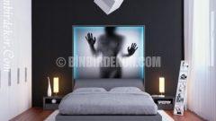 Bu yatak odası dekorasyonları Şahane