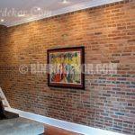 Antik tuğlalar ile duvar dekorasyonu