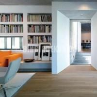 Kitaplık olarak kullanılmış niş duvar dekorasyon modeli ...