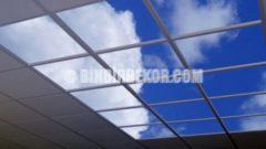 Gökyüzü desenli asma tavanlar
