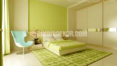 Yatak Odasında yeşil renk