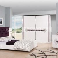 beyaz kapitone başlıklı yeni yatak odası modeli