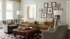 Oturma odası için şık duvar renkleri