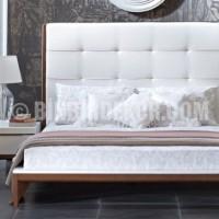 kapitone deri başlıklı yatak odası modeli