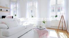 Basit ve şık oturma odası dekorasyonları