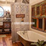 Vintage Tarzı Banyo Dekorasyonu Görselleri