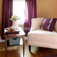Lila ve mor renklerinde ev dekorasyon örnekleri