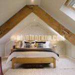 Çatı Katı Yatak Odası Dekorasyon Örnekleri