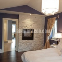 2,396 stacked stone wall Bedroom Design Photos