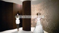 Kumaş Desenli Duvar Kağıdı Modelleri