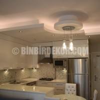 asma tavan salon dekorasyonu gergi tavan