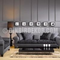 Gri duvar rengi oturma odası tasarımı