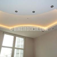 alcı tavan iş yeri icin modern led ışıklı kartonpiyer tavan