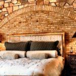 Yatak Odası Taş Duvar Dekorasyonu
