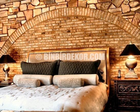 15,565 interior stone wall Bedroom Design Photos