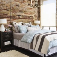 Wall behind the headboard accent. Example 2 – decorative stone and ...