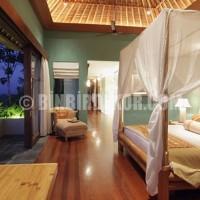 Beautiful Beach House Bedroom Interior, The Ocean Environment View