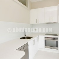 Lovely! White kitchen is the BEST and will make small kitchen looks ...