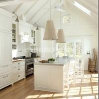 This antique white kitchen, designed by interior designer Lisa ...