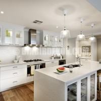 ... – Our Top Picks » All white kitchen – the Wisteria display home