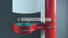 En Yeni Lavabolu Banyo Dolabı Tasarımları