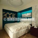 Küçük Yatak Odaları İçin Şık Fikirler