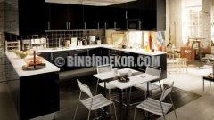 2015 Mutfak Dolabı Modelleri Renkleri