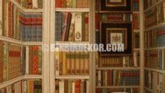 Yeni Trend Kitaplıklı Duvar Kağıtları