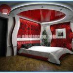 Yatak Odası Alçı Dekorasyonları 2015