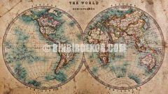 Tekzen Harita Desenli Duvar Kağıtları