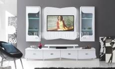 Beyaz TV-Duvar Ünitesi Modelleri 2016