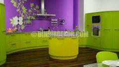 Mutfak Dekorasyonunda Değişik Renk Denemeleri
