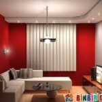 Oturma Odası Dekorasyonunda Kırmızı Tonlar