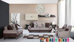 Kum Beji Duvar Renkleri ve Koltuk Takımı Kombinleri