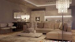 Salon Dekorasyonunda Kum Beji Duvar Renkleri
