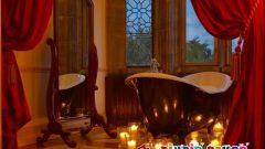 Sevgililer Günü İçin Romantik Banyo Dekorasyonları