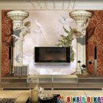 Yeni Moda TV Arkası Duvar Kağıdı Modelleri