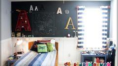 Çocuk Odaları İçin Dekoratif Karatahta Uygulamaları