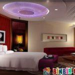 Yuvarlak Yataklara Özel Asma Tavan Tasarımları