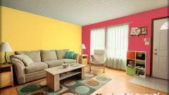 Oturma Odası Duvarlarında DYO Renk Festivali