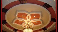 Salonlar İçin Yuvarlak Asma Tavan Tasarımları