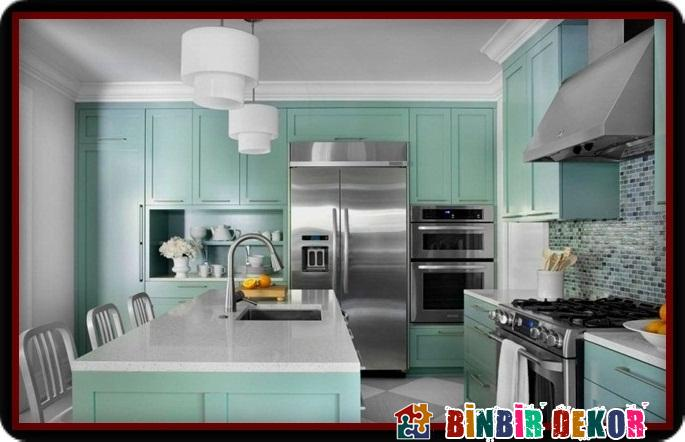 c82eae496c840 Son Moda Boya Renkleri ile Mutfak Dolabı Yenileme Örnekleri    BinbirDekor.Com