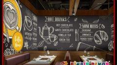 Cafe Bar ve İşyerleri İçin Çok Özel Duvar Kağıdı Modelleri